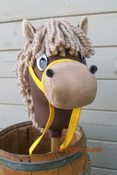 "MADE to ORDER Cartoon Collection ""Flaxen Chestnut"" Stick Horse or Pony"