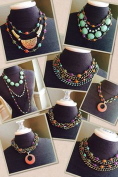 Premier Designs Chiclet necklace gives you endless options for color and creativity. The sky is limit on all the great looks you can create with this yummy piece! www.pennylacey.com