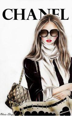 Fashion Illustration by Olivia Elery: Chanel-fashion illustration