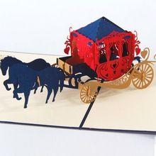 Wenskaarten uitnodiging papieren pop up 3D vervoer vintage voor Verjaardag Bruiloft Decoratie gift craft DIY gunst bonbondoos(China (Mainland))
