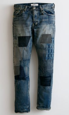 ORIGIN DENIM CS35 Diy Ripped Jeans, Ripped Shirts, Men's Jeans, Fashion Now, Denim Fashion, Rainbow Fashion, Denim Jacket Men, Destroyed Jeans, Denim Crafts