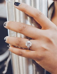 Classic elegance a beautiful emerald cut diamond artdeco engagement ring handcrafted to perfection by Ascot Diamonds. #engagementrings #jewelry