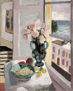 Henri Mattisse Safrano Roses at the Window, n.d. oil, 80 x 65 cm