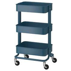 RÅSKOG Utility cart - dark blue - IKEA bathroom or kitchen Raskog Utility Cart, Raskog Trolley, Raskog Ikea, Shopping Ikea, Shopping Hacks, Kitchen Island Trolley, Kitchen Cart, Kitchen Islands, Chariot Ikea