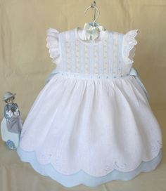 Little Girl Dresses, Nice Dresses, Smocked Baby Dresses, Baby Girl Dress Patterns, Christening Gowns, Heirloom Sewing, Baby Sewing, Pretty Outfits, Doll Clothes