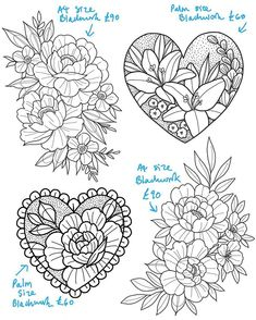 Designs for June dates. Grab one! - Designs for June dates. Grab one! Flash Art Tattoos, Traditional Tattoo Flowers, Neo Traditional Tattoo, Easy Drawings, Tattoo Drawings, Blackwork, Tattoo Designs, Tattoo Ideas, Tattoos Familie