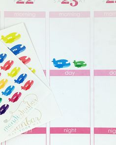 24 Colorful Airplane Stickers – Perfect for Erin Condren, Plum Paper Planner, Inkwell Press, Filofax, Scrapbooking & More