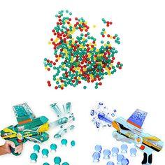 10000pc/lot Color Soft Crystal Bullet Water Gun Paintball Bullet Orbeez Gun Toy Nerf Bibulous Air Pisol Toy for Boy Children Kid