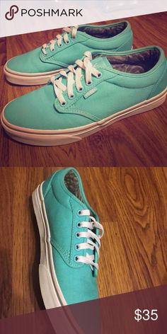 Brand new turquoise vans! Brand new vans never worn Vans Shoes Sneakers