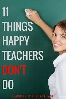11 things to STOP doing right now to be happier as a teacher. The first one made a huge difference for me!