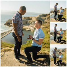 Michael & Joe's Proposal Photos at Lands End - Apollo Fotografie Proposal Photography, Proposal Photos, Surprise Proposal, Gay Couple, Man In Love, Lands End, Photoshoot, Engagement, Couple Photos