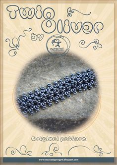 *P Bracelet tutorial / pattern Oliver with twin beads ..PDF instruction for personal use only. $11.00, via Etsy.