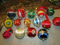 I love these ornaments from the early 70's