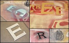 All Things Thrifty Home Accessories and Decor: Nursery Decorating Ideas Part 6: Wooden Letters