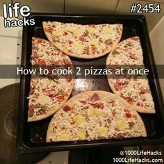 Cook 2 pizzas at once