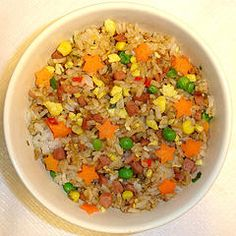 Fried Rice Recipes - Chinese Food Cooking Recipes. Plain version for those not into spice. Cook ahead and leave in rice cooker to keep warm