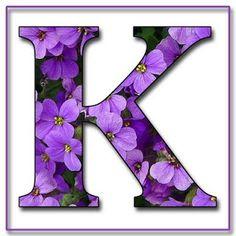 K Alphabet Purple