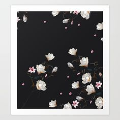 MAGNOLIA BRANCH Art by lostanaw #magnolias  #branches #plants #flowers #floral #cute #pink #girls #female #pretty #art #print #fashion #seamless #society6 #lostanaw #shop #italia #japan #instagram #ello #wanelo