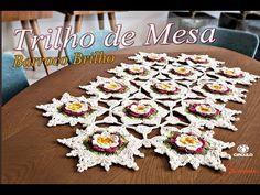 Trilho de mesa Crochê Barroco Brilho - Professora Simone - YouTube