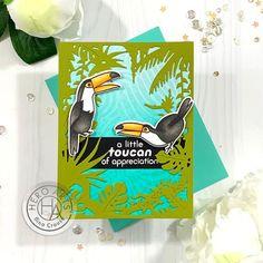A Toucan of Appreciation - Hero Arts Thank U Cards, Handmade Birthday Cards, Handmade Cards, Hero Arts Cards, Owl Punch, Punch Art, Heartfelt Creations, Penny Black, Bold Prints