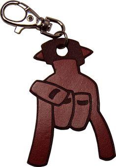 PORTACHIAVI in cuoio GOOD LUCK di EtabetaArtigiano su Etsy