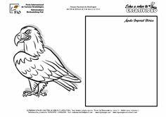 FICHAS DE AVES PARA DIBUJAR Y COLOREAR EN FIO | Águila imperial ibérica