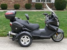 The 2009 Suzuki Burgman 650 Executive with TowPac Insta-trike for sale has less Then 7000 Miles on it currently PLUS it has four new tires, a new battery Trike Scooter, Scooter Girl, Motor Scooters For Sale, Trike Kits, Reverse Trike, Pt Cruiser, Yamaha Motor, Cafe Racer Bikes, Used Motorcycles
