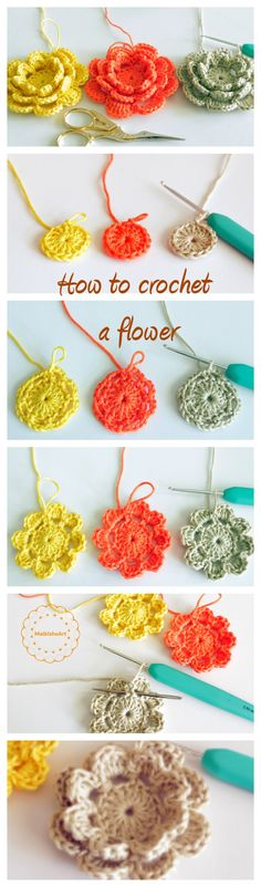How to crochet a multilayered flower photo tutorial