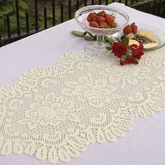 Heritage Lace® Rose Oval Table Runner   BedBathandBeyond.com   Table Runners    Pinterest   Oval Table