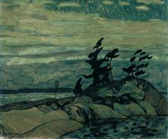 A.Y. Jackson, 1913; Night, Georgian Bay