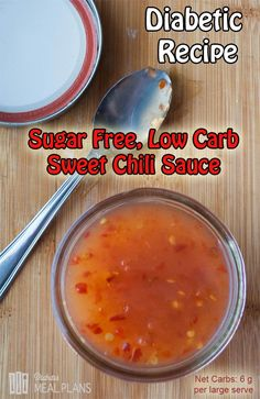 Low Carb Sugar Free Sweet Chili Sauce Recipe (Easy Meal On A Budget Cleanses) Keto Sauces, Low Carb Sauces, Healthy Sauces, Diabetic Recipes, Low Carb Recipes, Cooking Recipes, Diet Recipes, Crockpot Recipes, Stevia Recipes