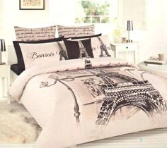 Details about paris eiffel tower beige brown black double/full quilt Paris Room Decor, Paris Rooms, Paris Bedroom, Dream Bedroom, Paris Themed Rooms, Master Bedroom, Bedroom Themes, Bedroom Decor, Bedroom Ideas
