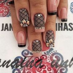 unhas decoradas Fabulous Nails, Gorgeous Nails, Pretty Nails, Acrylic Nail Art, Acrylic Nail Designs, Nail Art Designs, Beautiful Nail Designs, Beautiful Nail Art, Hot Nails