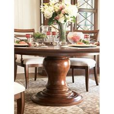 Classics Today Round Pedestal Dining Table by Better Homes and Gardens - Baers Furniture - Dining Room Table Miami, Ft. Lauderdale, Orlando, Sarasota, Naples, Ft. Myers, Florida