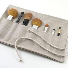 Going Natural? linen makeup brush roll by Objects of Desire. #ObjectsOfDesire #LinenBrushRoll