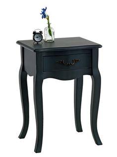 Sängbord STENLILLE 1 låda svart | JYSK