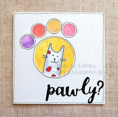 Katrina's Crafting Blog: get well card made with one of the Purrfect cats