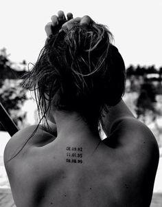 50 Best Neck Tattoo Ideas for Girls: 2015 - diy tattoo images Tattoo Girls, Tattoos For Kids, Mom Tattoos, Trendy Tattoos, Body Art Tattoos, Tatoos, Classy Tattoos For Women, Parent Tattoos, Spine Tattoos