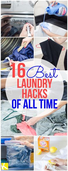 16 Best Laundry Hacks of All Time How to get rid of shirt pit stains Use a pillowcase ruler to clean dryer lint trap Unwrinkle clothes with a few ice cubes and 15 mins i. House Cleaning Tips, Diy Cleaning Products, Cleaning Solutions, Deep Cleaning, Spring Cleaning, Cleaning Hacks, Diy Hacks, Cleaning Recipes, Cleaning Supplies