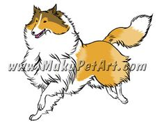 Rough Collie Muku Pet Art - Custom Pet Portraits by Shinrin Sam. Bros