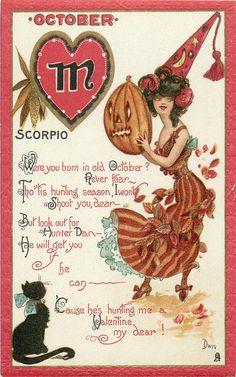zodiac halloween card