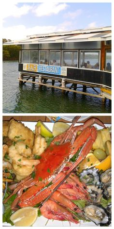 Fisherman's Wharf Restaurant, Woy Woy, Australia - delicious fresh seafood served direct from seafood market, a #hooroo #SecretSpots in Australia. Don't miss the seafood platter washed down with a craft beer or glass of wine on the water.
