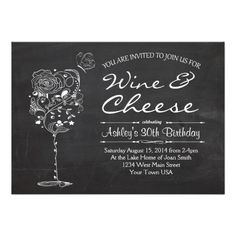 wine u0026 cheese birthday invitation wine bridal