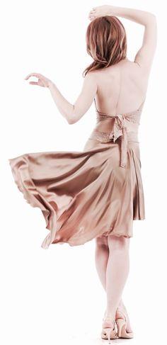 luxury handmade tango clothes www.poemaclothing.com   gold silk skirt   argentine tango skirt   tango fashion