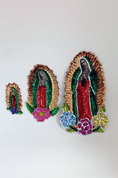 Guadalupe patch Medium large Virgin Mary Sequin Patch