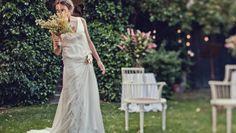 La boda de Luisa, un traje de novia pintado   Sole Alonso