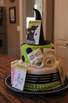 Broadway cake - Theatre themed cake - For all your cake decorating supplies, please visit craftcompany.co.uk