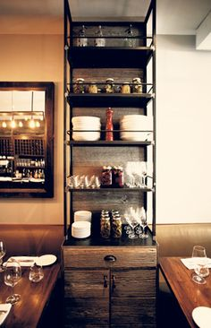 STORAGE HUTCH RECLAIMED WOOD & STEEL BY HARDWARE INTERIORS