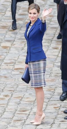 Queen Letizia 24 Mar 2015 - State visit to France