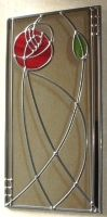 stained glass minimalist flower~~SO simple~~LOVE it!!!